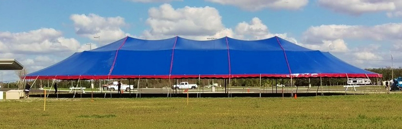 80X140 gorgeous used revival tent