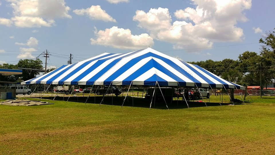 60X90 used event pole tents